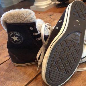 Converse All Star fleece lined high tops 8